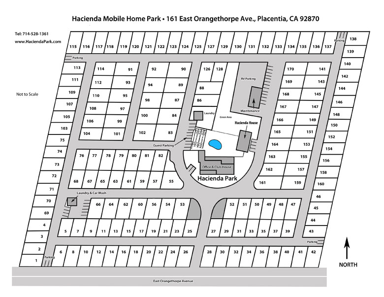 Hacienda Mobile Home Park Street Map
